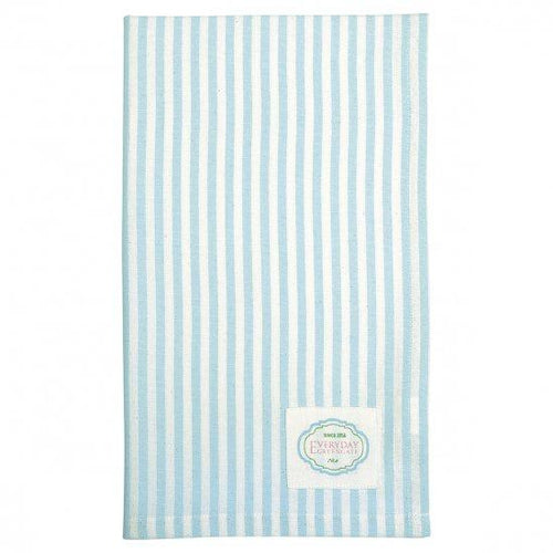 Greengate Alice pale blue stripe tea towel