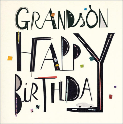 Amazing Grandson birthday card - Daisy Park