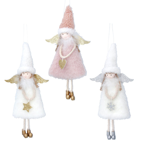 Faux Fur Pink or White Fairy Decorations