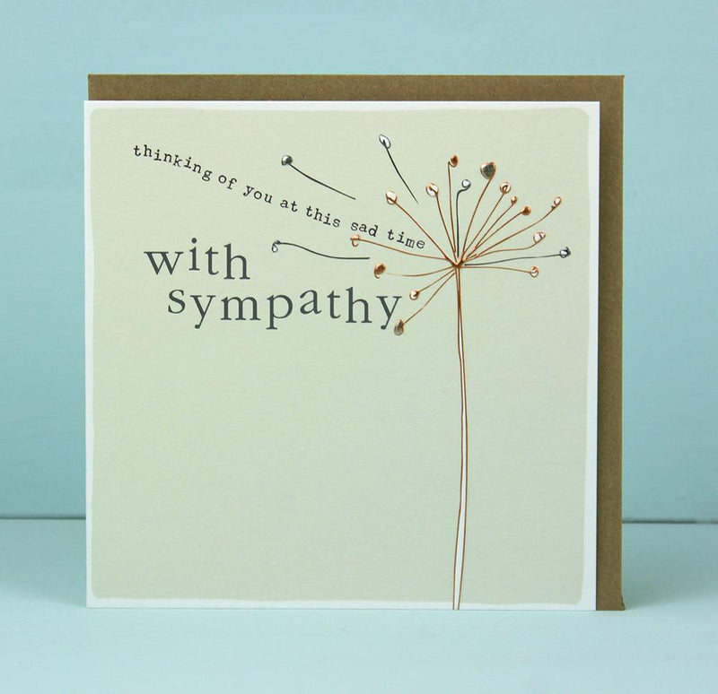 With sympathy - Thinking of you at this sad time card - Daisy Park
