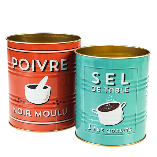 Salt and Pepper set of two tins - Daisy Park
