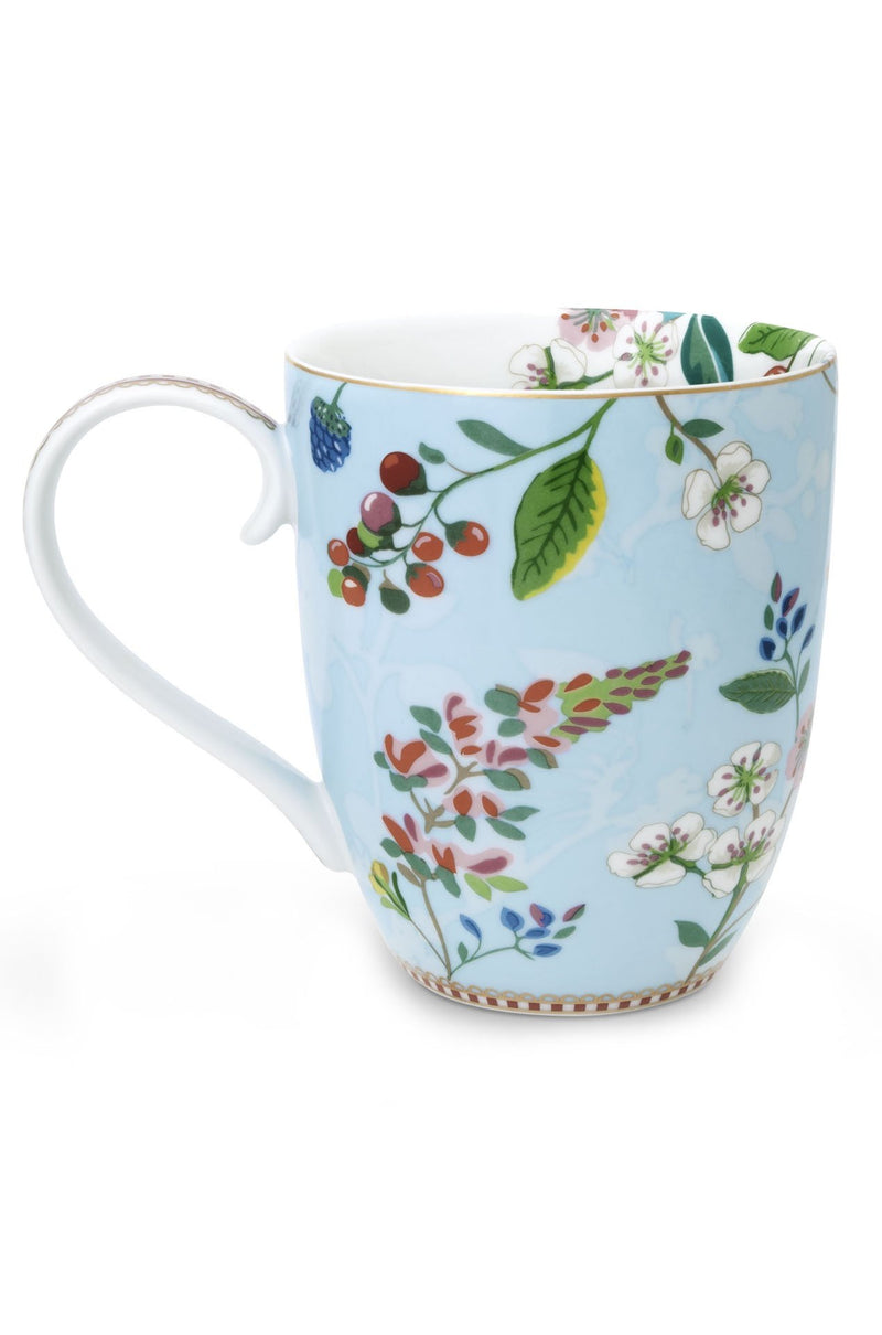 Pip Studio Floral mug XL Hummingbirds blue - Daisy Park