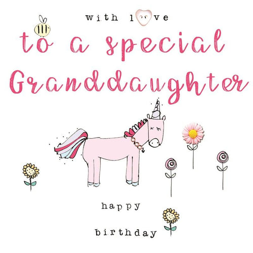 With love to a special Granddaughter birthday card - Daisy Park