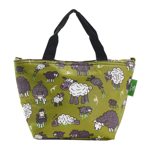 Eco Chic Green Sheep Foldable Lunch Bag - Daisy Park
