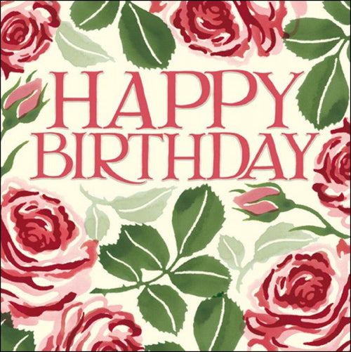Emma Bridgewater Happy Birthday roses card - Daisy Park