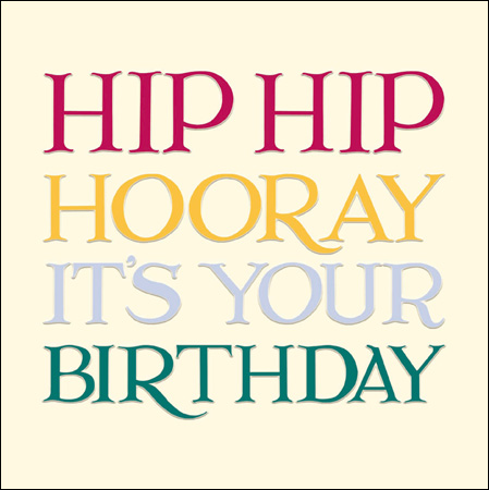 Emma Bridgewater Hip Hip Hooray card - Daisy Park