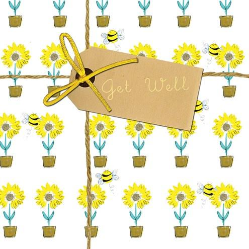 Get Well soon sunflower card - Daisy Park