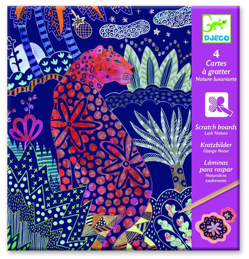 Djeco Lush Nature scratch board - Daisy Park