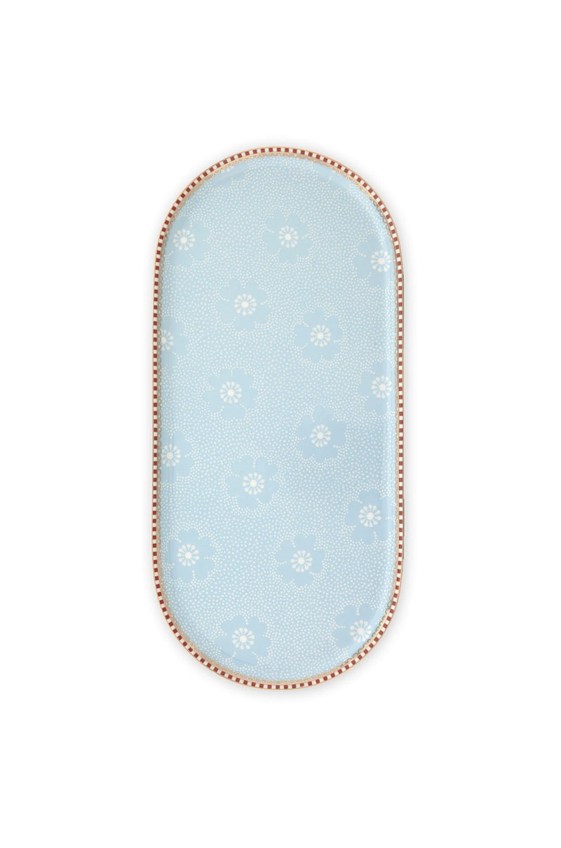 Pip Studio Floral plate sugar and creamer dotted flower blue - Daisy Park