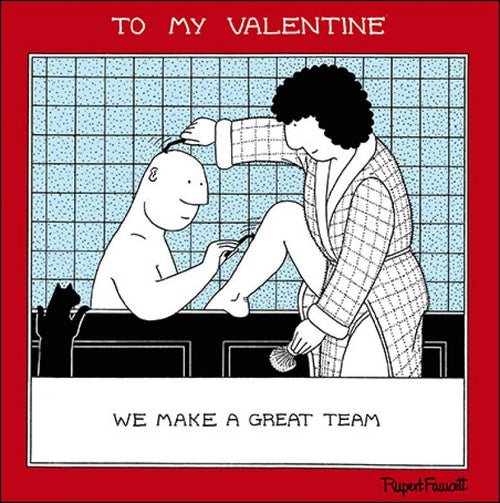 Fred great team Valentines card - Daisy Park