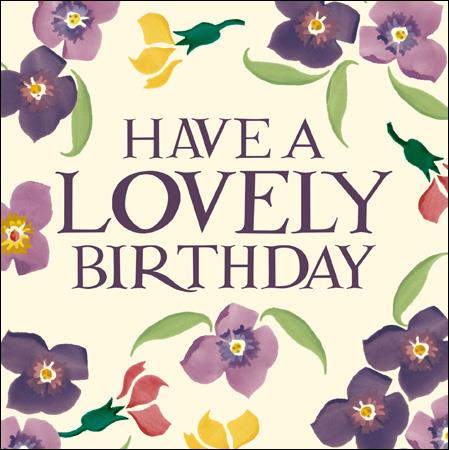 Emma Bridgewater Have a lovely birthday card - Daisy Park