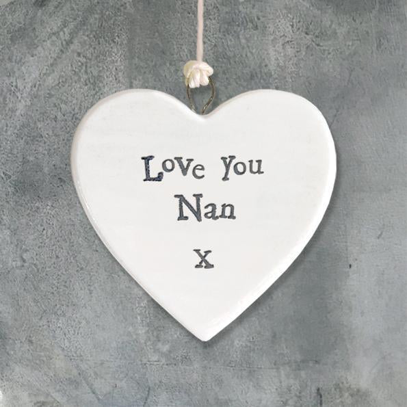 Small Love you Nan heart - Daisy Park