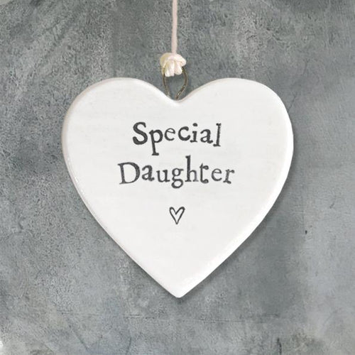 Special Daughter porcelain heart
