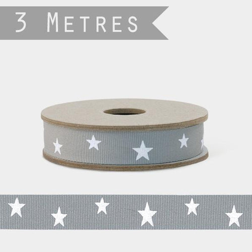 East of India Star grey ribbon