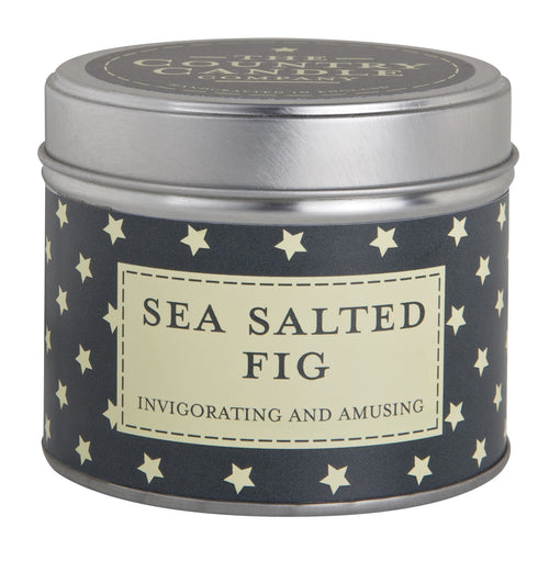 The Country Candle Sea salted fig candle tin