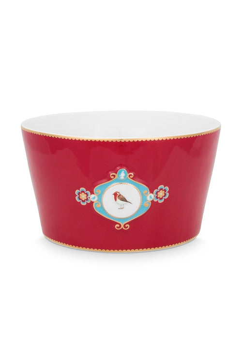 Pip Studio Love Birds Medallion Red Bowl 15cm