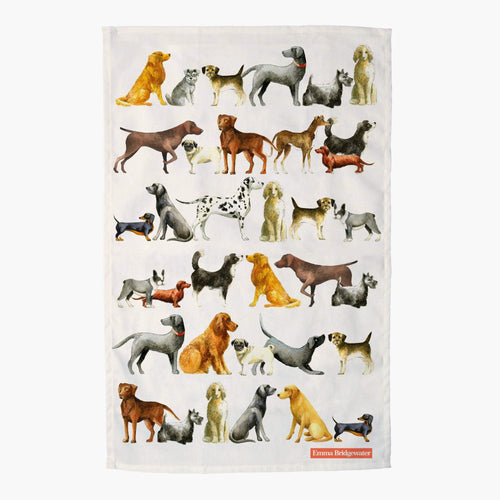 Emma Bridgewater Dogs tea towel - Daisy Park