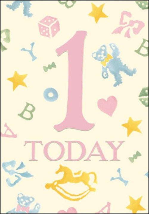 Emma Bridgewater 1st Birthday card - Daisy Park