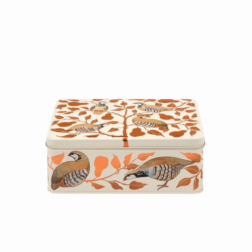 Emma Bridgewater Partridge deep rectangular tin - Daisy Park