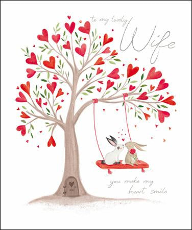 Always together Wife Valentine's card - Daisy Park