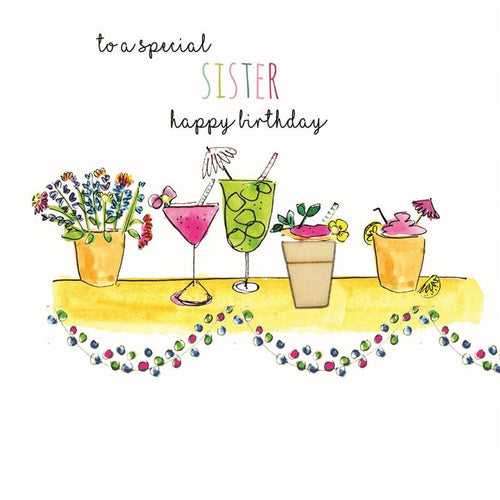To a Special Sister birthday card - Daisy Park
