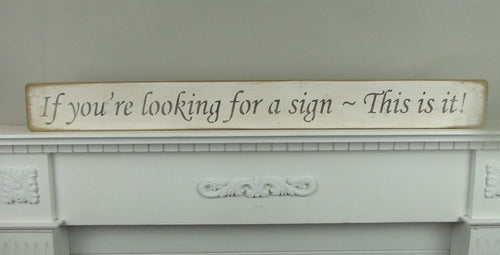 If your looking for a sign - This is it! sign - Daisy Park
