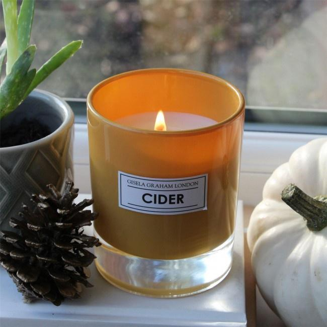 Cider scented candle pot