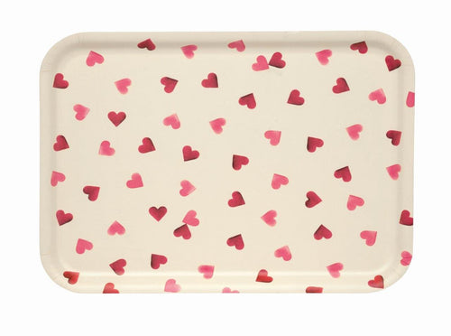 Emma Bridgewater Pink Hearts Birch rectangular tray - Daisy Park