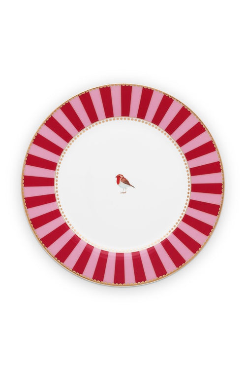 Pip Studio Love Birds red/pink 21cm breakfast plate