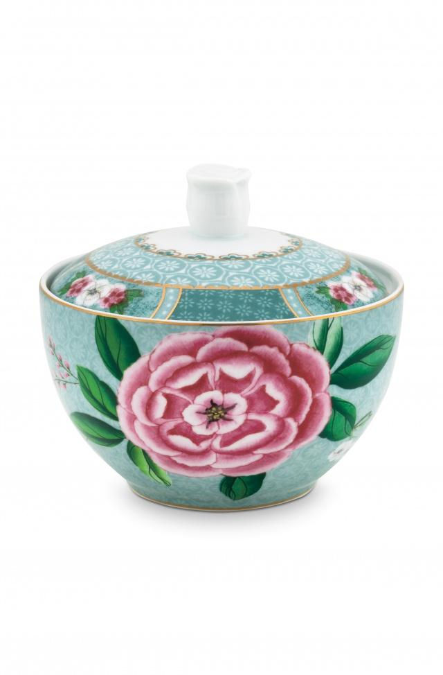 Pip Studio Blushing Birds blue sugar bowl - Daisy Park