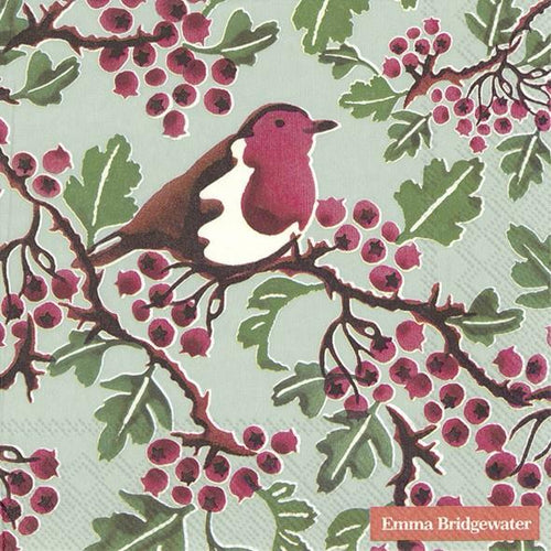 Emma Bridgewater Hawthorn berry light green lunch napkins - Daisy Park
