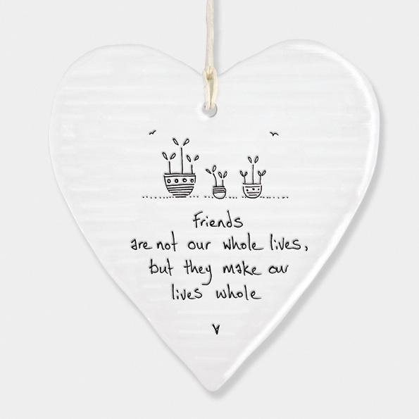East of India Porcelain Round Heart - Friends - Daisy Park