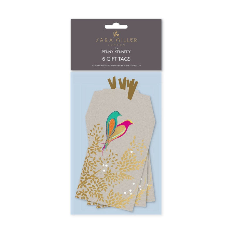 Sara Miller Love Birds Pack of Gift Tags - (6) - Daisy Park