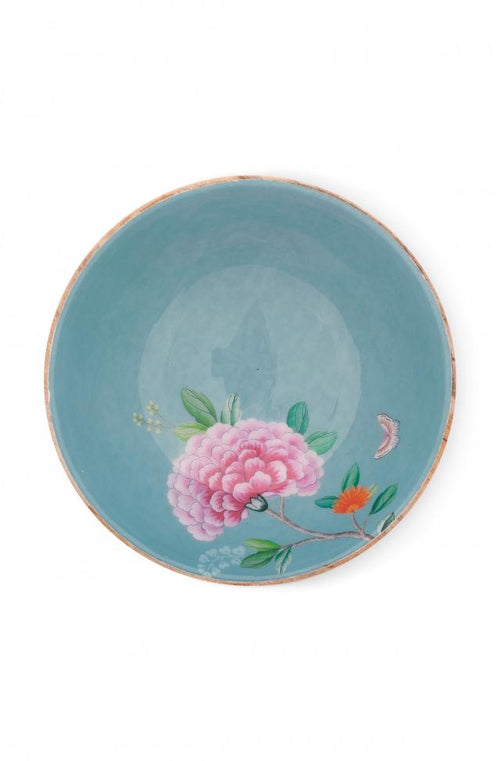 Pip Studio Blushing Birds Blue 28cm wood enamelled bowl - Daisy Park