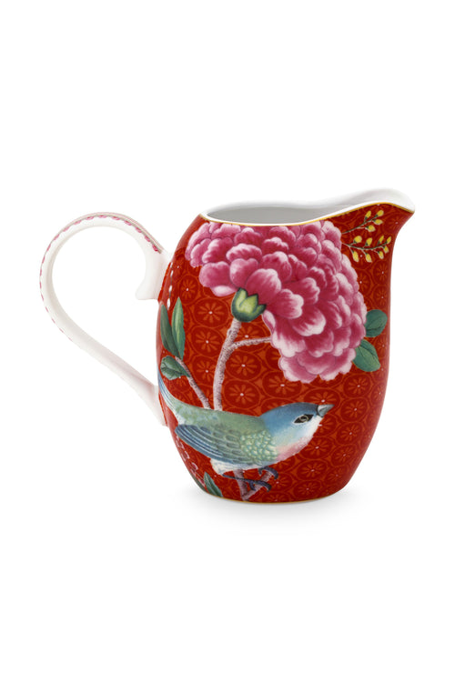 Pip Studio Blushing Birds red small milk jug - Daisy Park