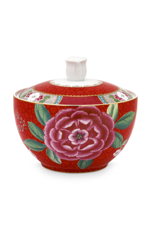 Pip Studio Blushing Birds red sugar bowl - Daisy Park