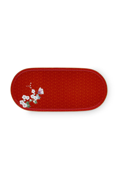 Pip Studio Blushing Birds red sugar and creamer plate - Daisy Park