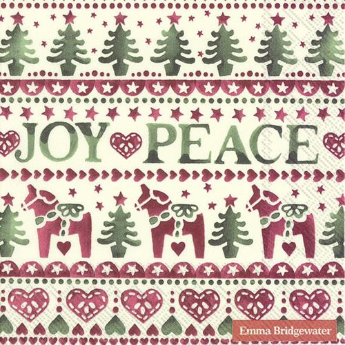 Emma Bridgewater Christmas Joy lunch napkins - Daisy Park