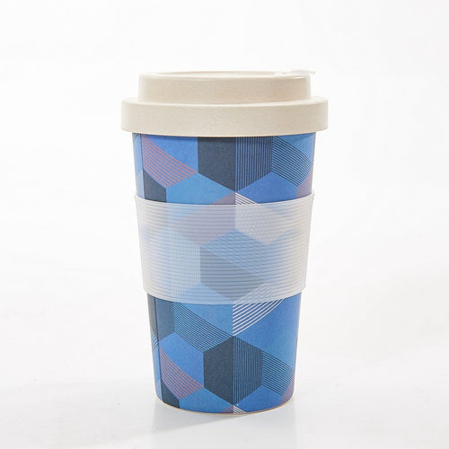 Eco Chic Blue triangle bamboo cup - Daisy Park