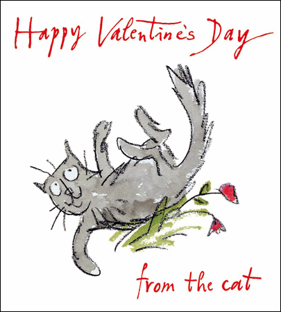 Valentine's Card - From the cat - Daisy Park