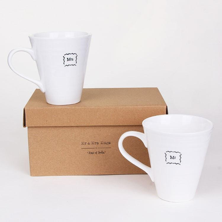 East of india Mr & Mrs Mugs Boxed - Daisy Park