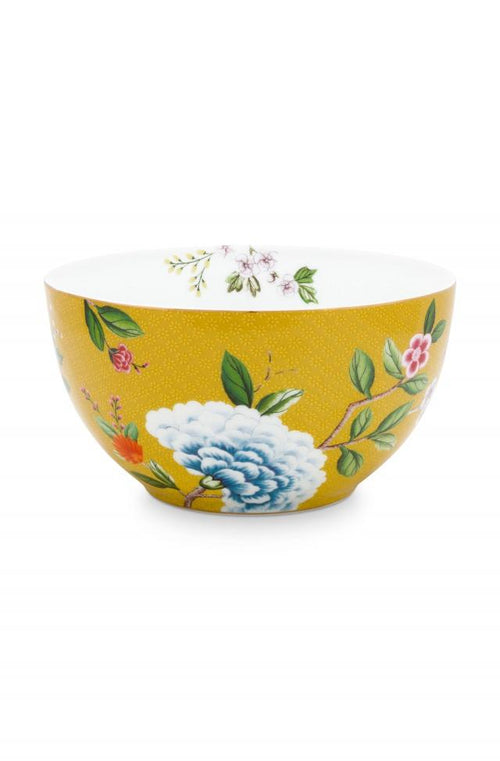Pip Studio Blushing Birds Yellow 15cm bowl - Daisy Park