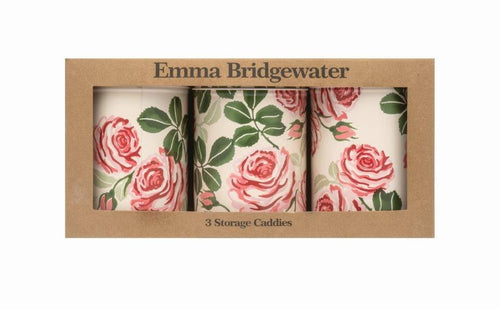 Emma Bridgewater Pink Roses set of 3 caddies - Daisy Park