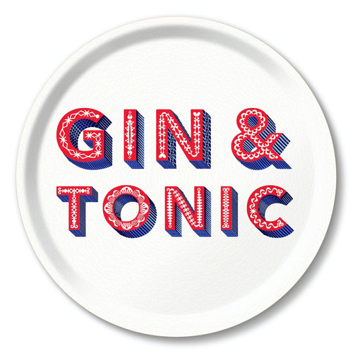 Asta Barrington Gin & Tonic White Round Tray - Daisy Park