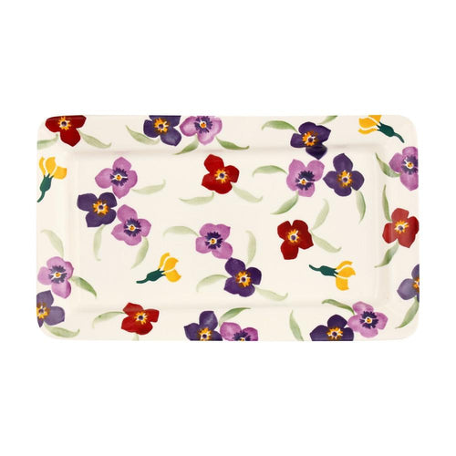 Emma Bridgewater Wallflower medium oblong plate - Daisy Park