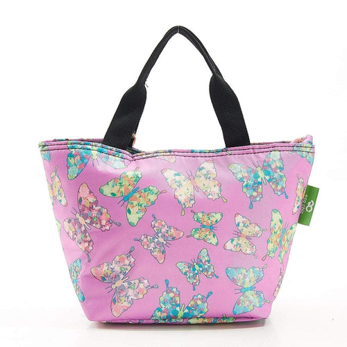 Eco Chic Lilac Butterfly Foldable Lunch Bag - Daisy Park