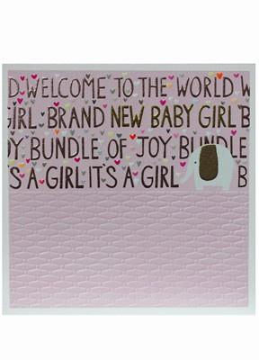 Bundle of Joy Baby Girl Card - Daisy Park