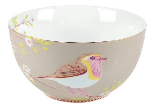 Pip Studio Early bird 15cm khaki bowl - Daisy Park
