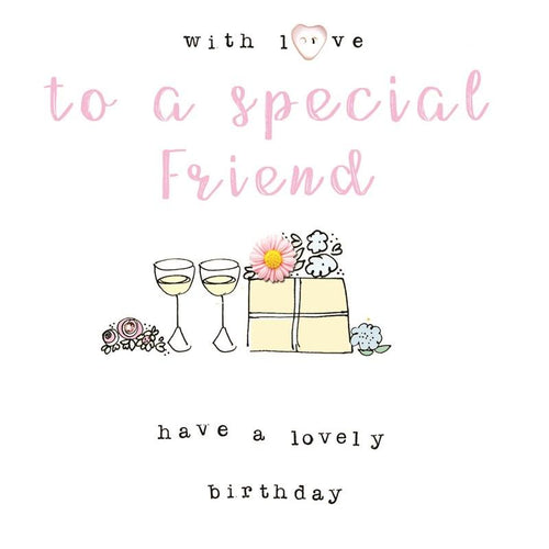 With Love to a special Friend card - Daisy Park