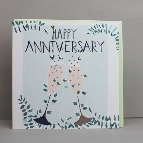 Happy Anniversary cheers card - Daisy Park
